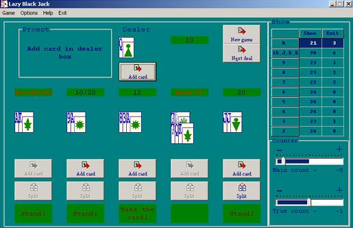 счет карт в онлайн казино
